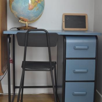 bureau-tubulaire-vintage-metal-bleu